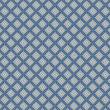 Blue Lovely Lattice