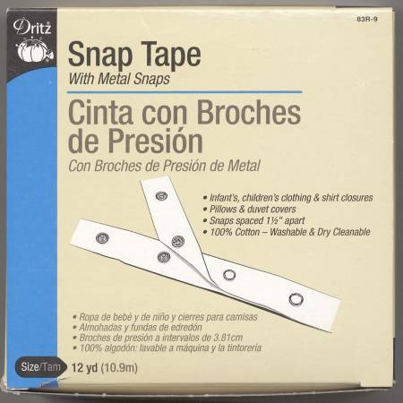 Dritz Snap Tape Fastener - 072879104134