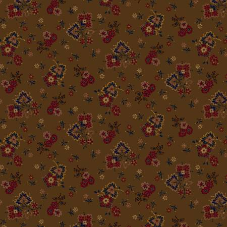 Brown Autumn Colors Flannel