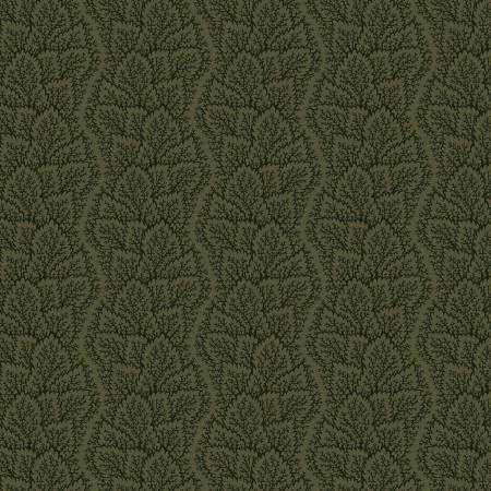 Green Leafy Path Flannel