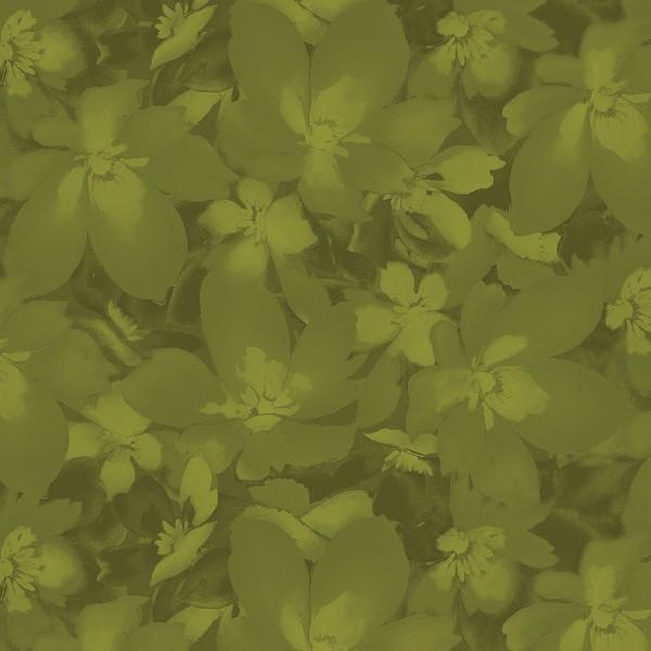 Catalina - Dark Green Tonal Blossoms