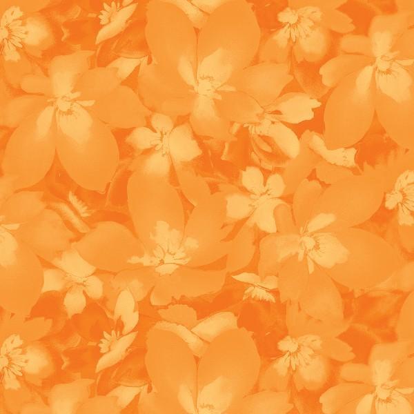 Catalina - Sunny Orange Tonal Blossoms