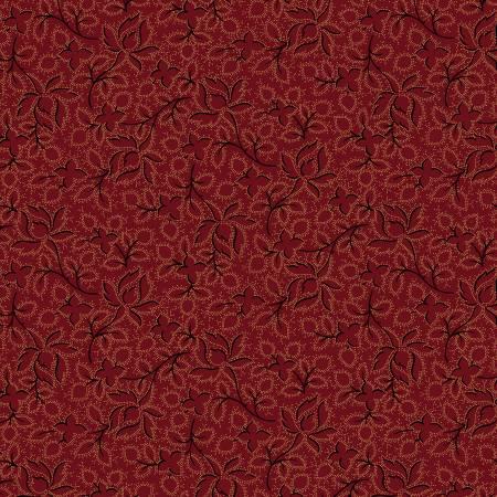 Burgundy Wild Perennials Flannel