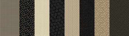 Fabric Patches of Autumn 8424-0512 Black