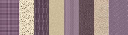 Fabric Patches of Autumn 8424-0535 Purple