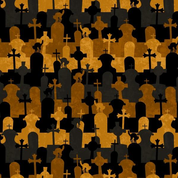 Black/Orange Graveyard Stripe