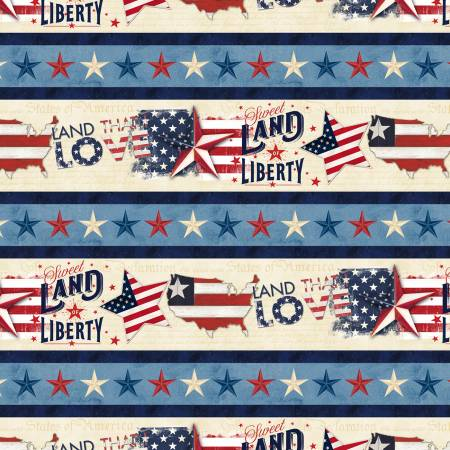 Multi American Valor Repeating Stripe
