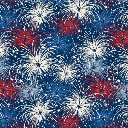 Liberty Lane Patriotic Fireworks Navy/Multi