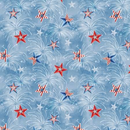 Liberty Lane Blue/Multi Stars