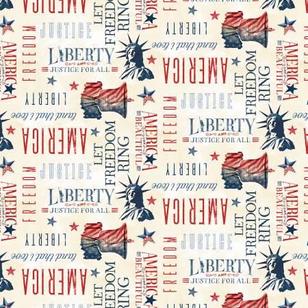 LIBERTY LANE Cream Patriotic Word Toss