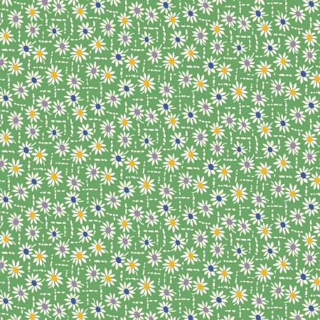 Green Daisies 1930's Reproduction