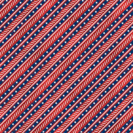 Liberty Lane Red Diagonal Stripe
