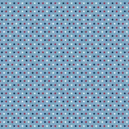 Blue/Multi Patriotic Small Stars