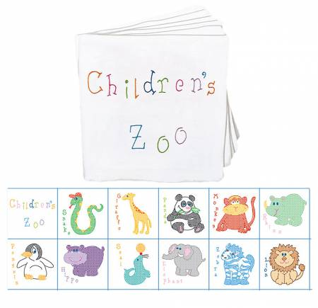 Cloth Nursery Books 12pgs 8in x 8in Childrens Zoo