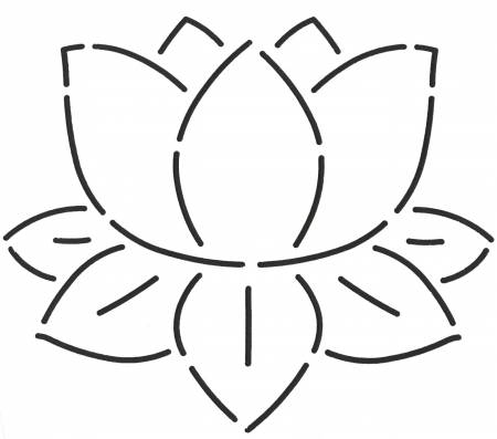 Quilt Stencil Lily Pad