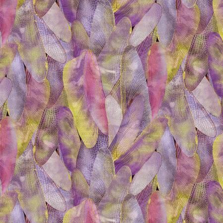 Deep Lavender Gilded Wings