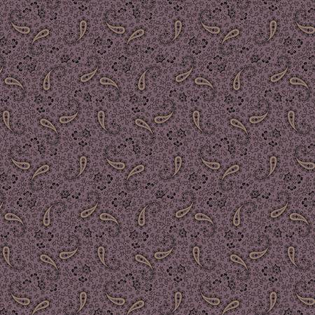 Purple Paisley Flowers Reproduction 8502-0135