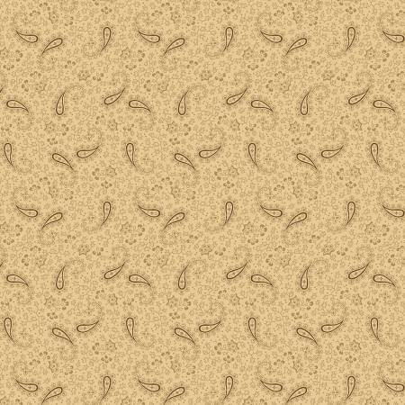 Cream Paisley Flowers Reproduction
