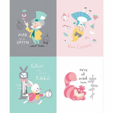 Disney Alice in Wonderland Characters & Quotes Panel