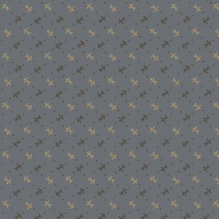 Blue Fleur de lis Reproduction