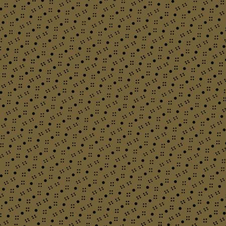Marcus Fabrics Olive Dottie Reproduction by Paula Barnes R228506 - 0116 *