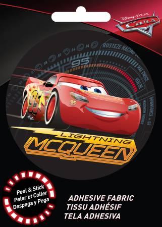 Disney Pixar - Lightning McQueen - Adhesive Fabric 3in Badge