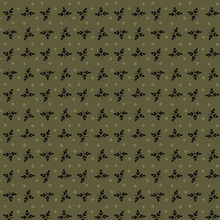 Marcus Fabrics Olive Laurel Reproduction by Paula Barnes R228508 - 0116 *