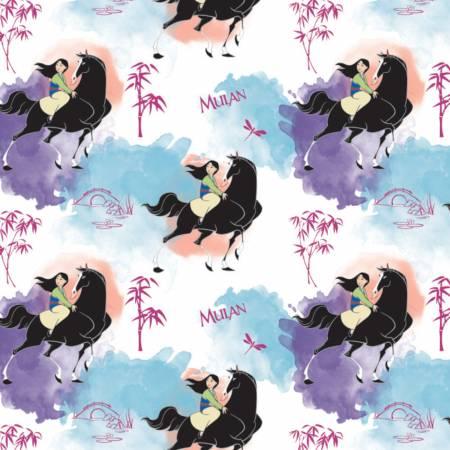 85101701 White Mulan Journey of my Own Disney Princess Camelot Fabrics