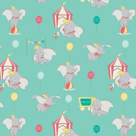 Turquoise Dumbo In The Circus