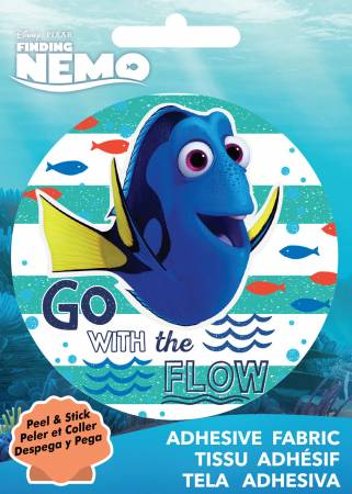 Disney Pixar - Dory Go with the Flow - Adhesive Fabric 3in Badge
