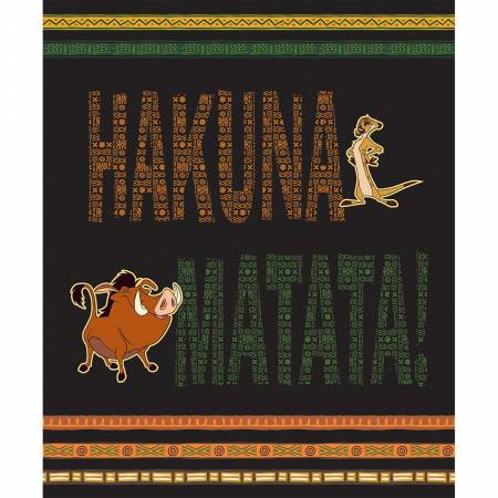 Multi Disney The Lion King Hakuna Matata 36in Panel