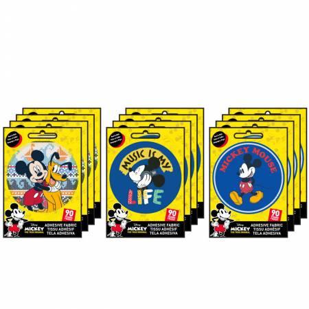 Mickey - Adhesive Fabric 3in Badge