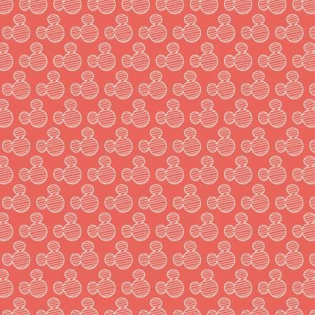 Mickey Mouse Silhouette Orange