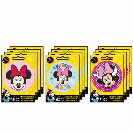 Minnie - Adhesive Fabric 3in Badge