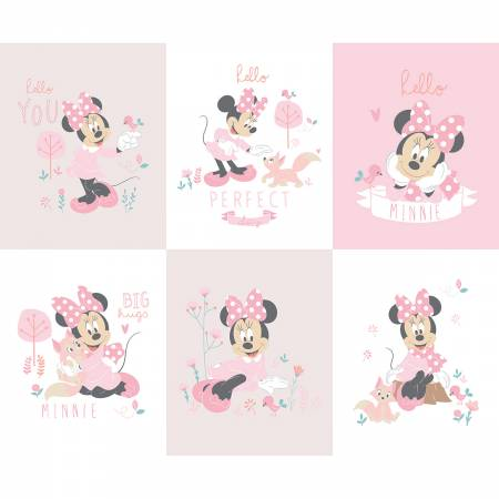 Pink Disney Minnie Little Meadow Panel