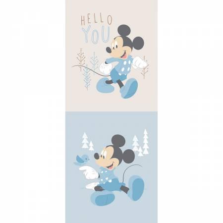 Blue Disney Mickey Little Meadow Multi Panel