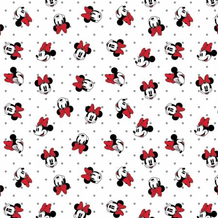 Disney Minnie Mouse Dreaming In Dots White