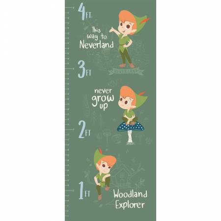 Disney Peter Pan Growth Chart Half Panel