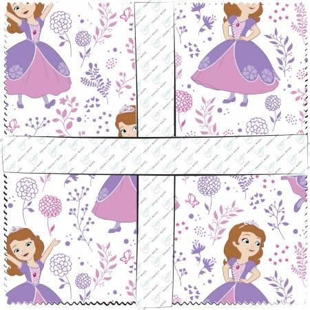 10in Squares Sofia the First 42pcs