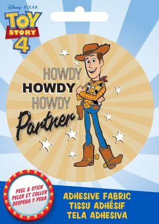 Disney Pixar - Howdy Woody - Adhesive Fabric 3in Badge