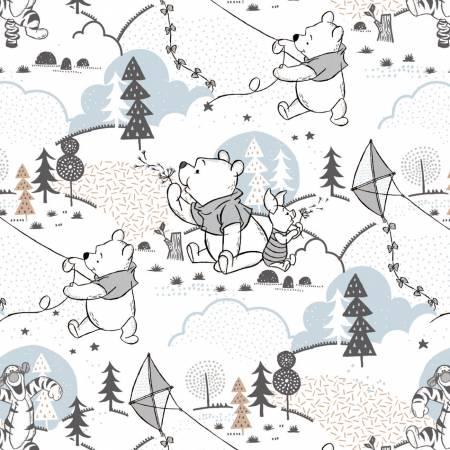 White Disney Pooh Cloud & Kites
