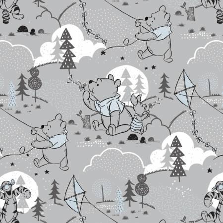 Light Grey Disney Pooh Cloud & Kites