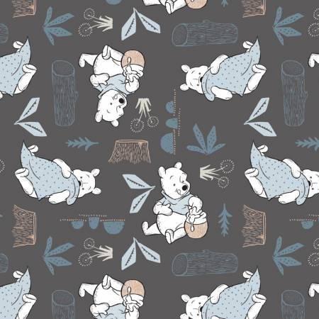 Dark Grey Disney Pooh Blankets & Honey