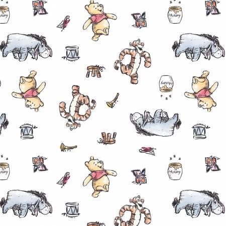 Winnie the Pooh : Busy Days White - #85430502-01 - Walt Disney