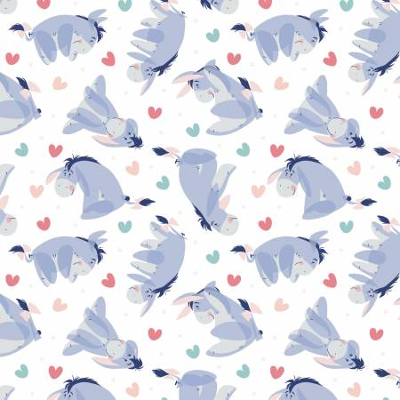 White Disney Winnie the Pooh Eeyore Heart