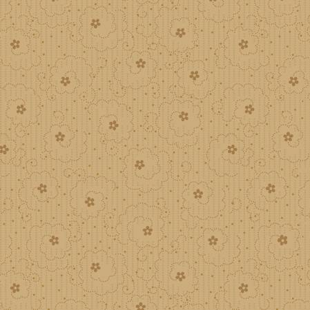 Tan Swirling Flower Dot 8570-33