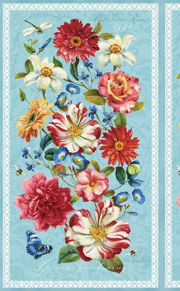 86365-431 Multi Rainbow Garden, Wilmington Prints