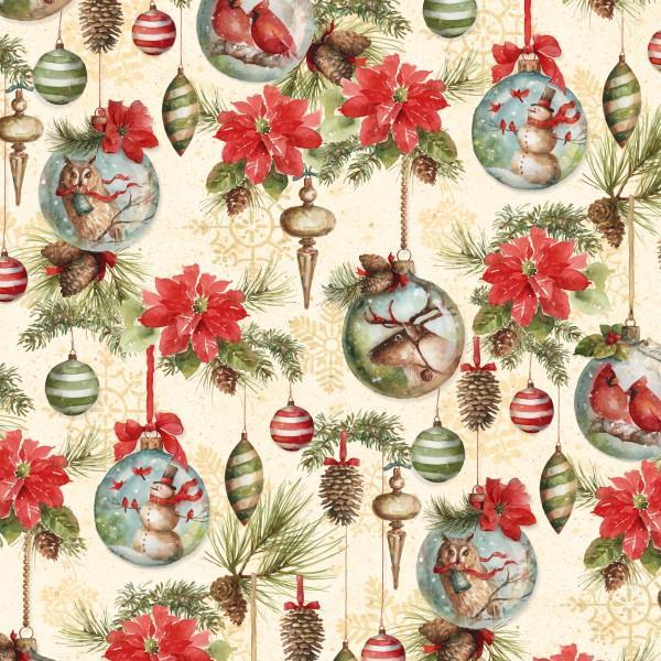 Cream Ornaments & Flowers