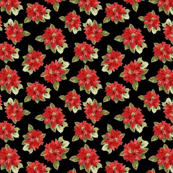 Black Poinsettia Toss
