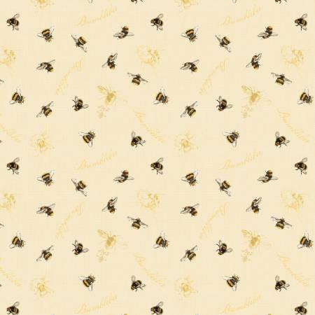 Cream Bumblebees Allover 86431 159